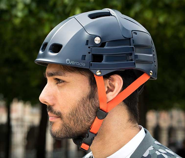 Overade: Plixi folding bicycle helmet – Blue