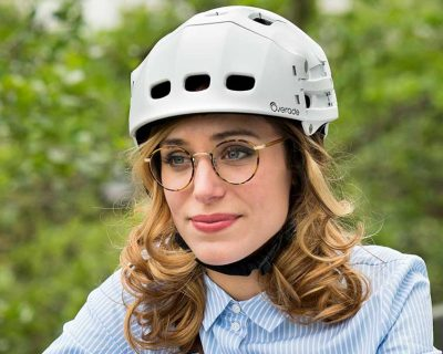Overade: Plixi folding bicycle helmet – White