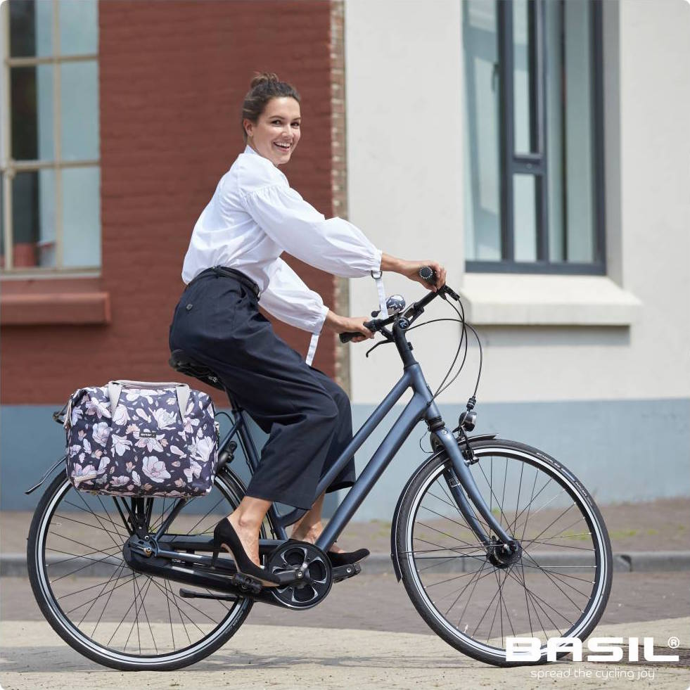 Basil  Magnolia Carry All Bicycle Pannier – Action Bicycle Club 8e14b539393dc