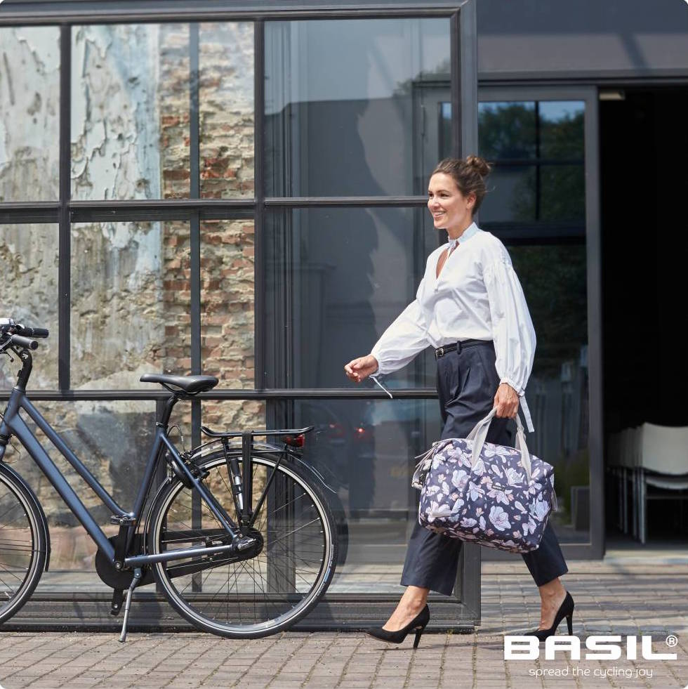 Home All Products Pannier Bags Basil  Magnolia Carry All Bicycle Pannier 8f892d1de133a
