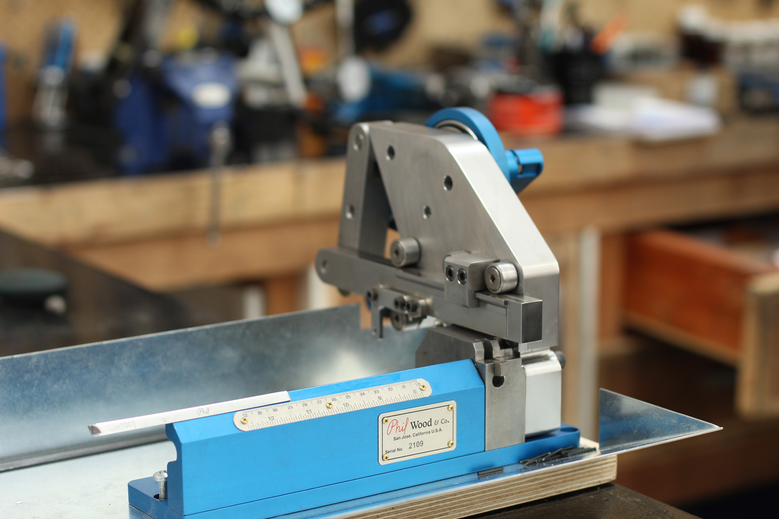 Phil Woods Spoke Cutting Machine